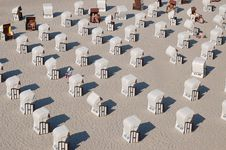 Free Beach Chairs Royalty Free Stock Photo - 3599405