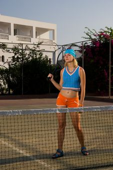 Free Tired Tennis Player Royalty Free Stock Photography - 3599847