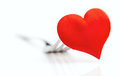 Free Red Heart On A Fork Stock Photography - 35904652
