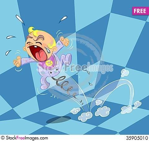 Free Crying Baby Illustration Stock Photo - 35905010