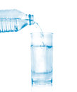 Free Water Bottle Pour Water To Glass Royalty Free Stock Photos - 35913058