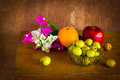 Free Fresh Bougainvillea Flower And Fruit ,still Life Stock Images - 35914754