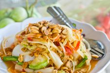 Free Papaya Salad Royalty Free Stock Photos - 35913018
