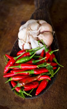 Free Red Chili And Garlic Stock Image - 35913271