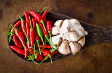 Red Chili And Garlic Stock Images