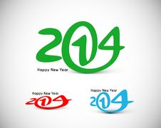 Free Happy New Year 2014 Royalty Free Stock Photos - 35917878
