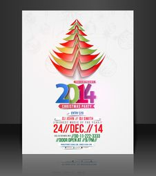 Free Christmas Party Flyer Royalty Free Stock Photography - 35918287