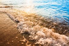 Free Sand Beach And Wave Stock Photography - 35918372