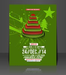 Free Christmas Party Flyer Royalty Free Stock Image - 35918376