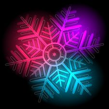 Free Glowing Colorful Snowflake Stock Images - 35918494