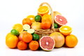 Free Mixed Citrus Fruit In Wicker Basket Royalty Free Stock Photography - 35922787
