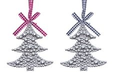 Free Silver Christmas Tree Decorations Stock Photography - 35921152