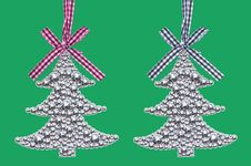 Free Silver Christmas Tree Decorations Stock Image - 35921181