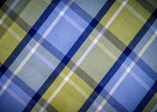 Free Blue And Green Checked Fabric Stock Photography - 35923492