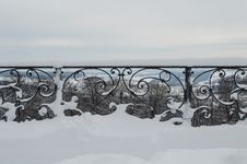 Free Grating Covered By Snow Stock Photography - 35926082