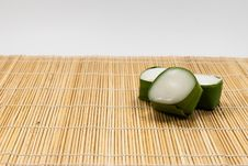 Free Thai Dessert Sweet Coconut Milk On Banana Leaf &x28;Kanom Tako&x29; Royalty Free Stock Photography - 35927037