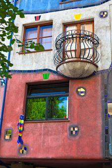 Balcony And Windows Of Hundertwasser House