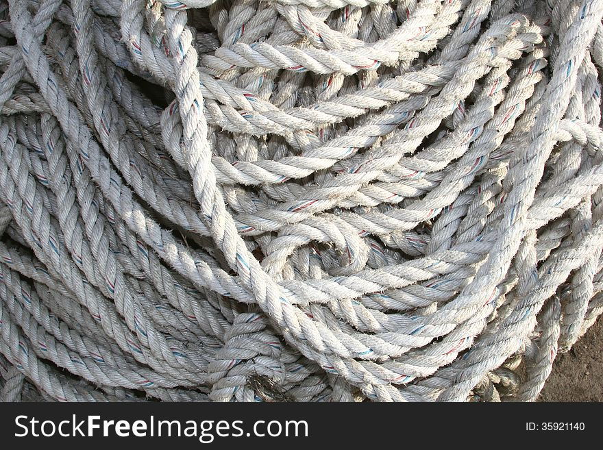 Ropes of a ship in detail, travel industry