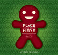 Free Christmas Gingerbread Man Background Design Stock Image - 35937691