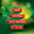 Free Christmas Background With Tree Shape Ribbon Royalty Free Stock Image - 35937696