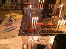 Free Hanukkah Candles Stock Photography - 35933042
