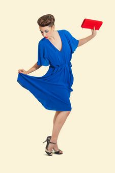 Woman In Pinup Style Royalty Free Stock Photo