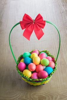 Free Multicolored Easter Eggs Stock Photos - 35933893