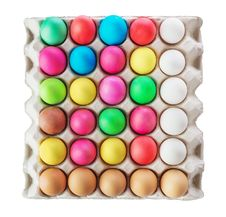 Multicolored Easter Eggs Royalty Free Stock Image