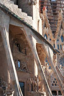 Free Sagrada Familia Death Facade Stock Photo - 35938100