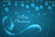 Christmas Background With Glass Christmas Balls Stock Photos