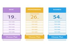 Free Pricing Table Stock Photos - 35940983