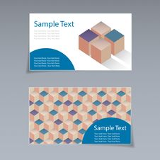 Free Business Card Geometric Background. Stock Images - 35942414