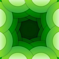 Free Abstract Green Round Shapes Background Royalty Free Stock Image - 35942826
