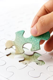 Free Puzzle Piece Concept Royalty Free Stock Photo - 35944325