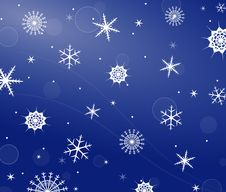 Free Snowflakes Background Stock Photo - 35947210