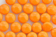 Free Stack Of  Orange Pills Royalty Free Stock Photos - 35947308