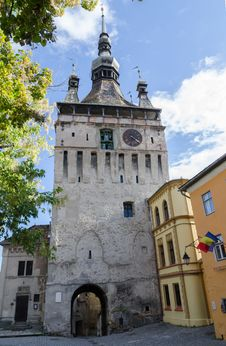 Free Clock Tower In Sighișoara, Romania Royalty Free Stock Photography - 35947627