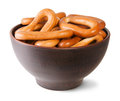 Free Tasty Oval Bagels Into Ceramic Bowl Stock Photos - 35953753