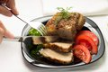 Free Eating Of Baked Meat Stock Photos - 35953983