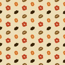 Free Lips Vector Seamless Pattern Royalty Free Stock Image - 35951196