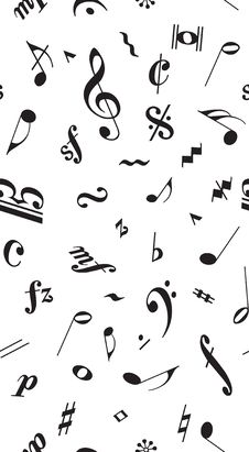 Free Musical Pattern Royalty Free Stock Image - 35952596