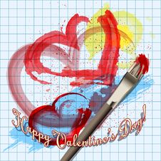 Free Painted Hearts Royalty Free Stock Photo - 35955425