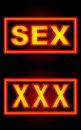 Free Sex XXX Neon Black Background Royalty Free Stock Photography - 35960587
