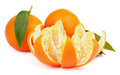 Free Tangerine With Segments Royalty Free Stock Photography - 35960707