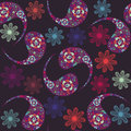 Free Floral Seamless Pattern And Seamless Pattern In Sw Stock Images - 35967204