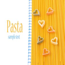 Free Spaghetti, Pasta In The Form Of Heart, Concept, Isolated Royalty Free Stock Photo - 35960145