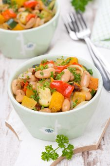 Free Vegetable Stew With Beans Stock Photos - 35960323