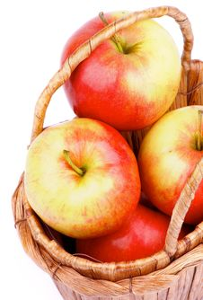 Free Apples In Basket Royalty Free Stock Image - 35960916