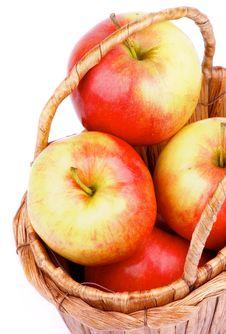 Free Apples In Basket Royalty Free Stock Image - 35960916