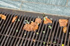 Free Falling Leaves In The Gutter Stock Image - 35960971